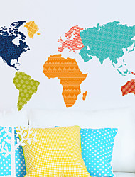 murali Stickers adesivi murali, wall stickers mappa del mondo in pvc