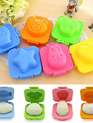 cheap -Cute 6Pcs Boiled Egg Sushi Rice Mold Bento Maker Sandwich Cutter Decorating