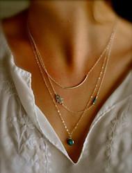 Недорогие -Жен. Слоистые ожерелья - Сглаз Мода Цвет экрана Ожерелье Бижутерия Назначение