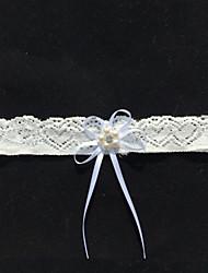 Blondelukning Bryllup Garter - Bjergkrystal Rosette Imitationsperler
