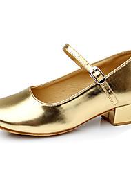 preiswerte -Schuhe für modern Dance Leder / Kunststoff Absätze Schnürsenkel / Pelz Niedriger Heel Keine Maßfertigung möglich Tanzschuhe Rot / Silber