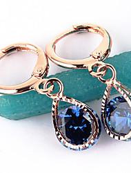 cheap -Women's Fashion Gold Filled CZ Stone Dangle Earring