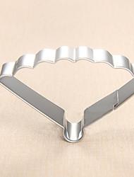 Fashion Lady's Palace Fan Shape Cookie Cutters Fruit Cut Molds Stainless Steel