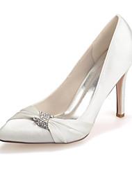 Da donnaMatrimonio / Serata e festa-A punta-A stiletto-Seta-Nero / Blu / Rosa / Viola / Rosso / Avorio / Bianco / Argento / Champagne