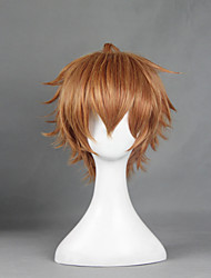 Parrucche Cosplay Shokugeki no Soma Cosplay Marrone Corto Anime Parrucche Cosplay 30 CM Tessuno resistente a calore Uomo / Donna