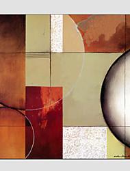 Ručno oslikana Sažetak Kvadrat, Europska Style Moderna Platno Hang oslikana uljanim bojama Početna Dekoracija Jedna ploha