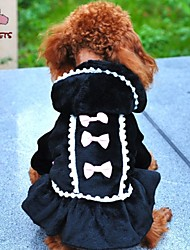 Chat Chien Manteaux Pulls à capuche Robe Vêtements pour Chien Cosplay Mariage Nœud papillon Noir Rose Costume Pour les animaux domestiques