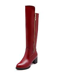 Недорогие -sw 5050 женская обувь pu (полиуретан) осень / зима комфорт / сапоги сапоги ботинки походные туфли / велосипедные туфли / обувь для ходьбы короткая каблук раунд
