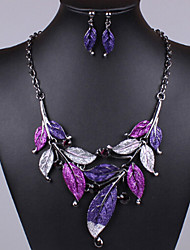 cheap -Women's Jewelry Set Vintage Party Fashion Simple Style Party Special Occasion Anniversary Birthday Gift Silver Plated Alloy Necklace