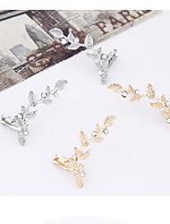 cheap -Clip Earrings Alloy Rhinestone Simulated Diamond Gold Silver Jewelry 2pcs