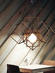 ciondolo, 1 luce, pittura minimalista vintage in ferro di alta qualità