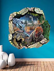 billige -Dyr 3D Tegneserie Vægklistermærker 3D mur klistermærker Dekorative Mur Klistermærker, Vinyl Hjem Dekoration Vægoverføringsbillede Væg