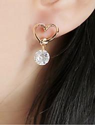 billige -Dame Stangøreringe Krystal Mode Europæisk Rhinsten Guldbelagt Østrigsk krystal 18K Guld Simuleret diamant Smykker Guld Kostume smykker