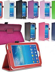 preiswerte -Für Samsung Galaxy Hülle mit Halterung / Flipbare Hülle Hülle Handyhülle für das ganze Handy Hülle Einheitliche Farbe PU - Leder Samsung