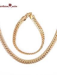 povoljno -Žene Komplet nakita Pozlaćeni Legura Vintage Zabava Posao Ležerne prilike Alke/lanac Narukvica Ogrlice Nakit odjeće