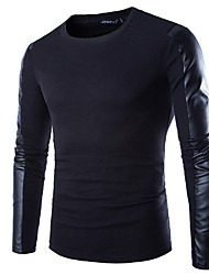 cheap -Maimi  Men's Long Sleeve T-Shirt , Cotton Blend Casual/Work/Formal/Sport Pure