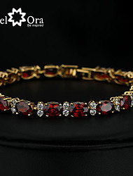 cheap -2015 New Brand 5mm*180mm JewelOra Fashion Women Ruby CZ Charms Classic Tennis Bracelets
