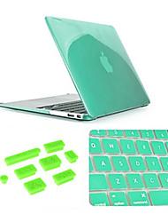 """Недорогие -3 в 1 кристаллический случай с крышкой клавиатуры и силиконовой пыли разъем для MacBook Air 13.3 """"(ассорти цветов)"""