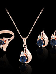cheap -Synthetic Diamond Jewelry Set - Zircon, Cubic Zirconia, Imitation Diamond Party, Work, Fashion Include Rose Gold For Party / Special Occasion / Anniversary / Earrings / Necklace