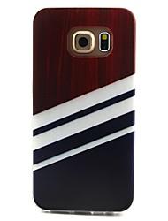 preiswerte -Hülle Für Samsung Galaxy Samsung Galaxy Hülle Muster Rückseite Linien / Wellen TPU für S6 edge / S6 / S5 Mini
