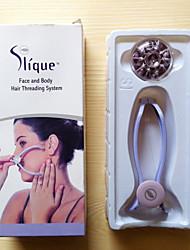 faccia sistema di capelli corpo threading / facciale di rimozione dei capelli corpo faccia epilatore primavera epilatore Epistick per le