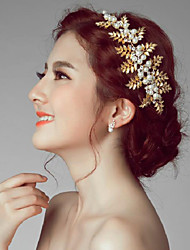 Imitation Pearl Alloy Flowers Headpiece