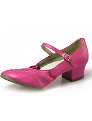 Scarpe da ballo - Non personalizzabile - Donna / Bambino - Moderno - Tacco spesso - Pelle - Nero / Rosa / Rosso / Bianco