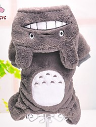 cheap -Dog Jumpsuit Pajamas Dog Clothes Cartoon Gray Polar Fleece Costume For Pets Men's Women's Cute Casual / Daily