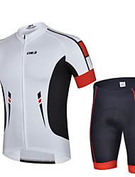 baratos -cheji® Homens Manga Curta Camisa com Shorts para Ciclismo Moto Shorts Camisa/Roupas Para Esporte Conjuntos de Roupas, Secagem Rápida,