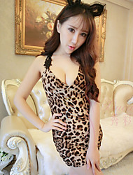 cheap -SKLV Women's Spandex Ultra Sexy/Suits Leopard Print Nightwear/Lingerie