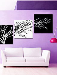 cheap -VISUAL STAR®Black and White Abstract Tree Canvas Wall Art for Living Room Decor Ready to Hang