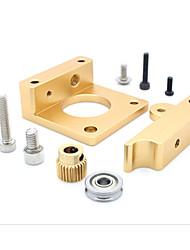 abordables -MK8 extrudeuse bloc bloc d'aluminium makerbot tête d'extrusion d'aluminium pour imprimante 3d