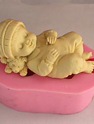 muffa di cottura bambino addormentato per la torta per Cookie per Pie Silicone Ecologico Alta qualità 3D
