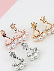 cheap -Women's Pearl Stud Earrings - Pearl Star Gold / Silver / Rose Gold For