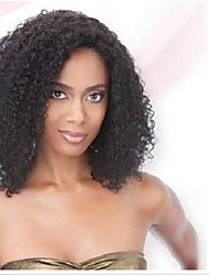 In Stock 10-30inch Afro Kinky Curly Lace Front Wigs 130 Density Brazilian Virgin Human Hair U Part Wig For Black Women