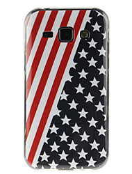 preiswerte -Hülle Für Samsung Galaxy Samsung Galaxy Hülle IMD Rückseite Fahne TPU für J7 / J5 / J1