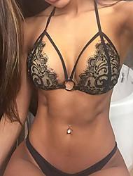 baratos -Mulheres Sexy Super Sensual Conjunto Completo Lingerie com Renda Roupa de Noite Jacquard