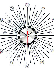 "Modern/Contemporary Wall Clock,Round Iron 50 x 50 x 3(19.69"" x 19.69"" x 1.18"") Indoor Clock"