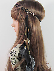 Fashion Weave Bohemian Headband,Native American,Braided Headband,Indian Headband,Hippie Headband,Feather Headband