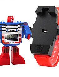 cheap -SKMEI® Kid's Robot Style Digital Toy Watch Cool Watches Unique Watches Strap Watch