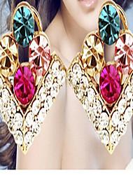 billige -Dame Krystal Stangøreringe - Kvadratisk Zirconium, Rhinsten Sød Stil Skærmfarve Til