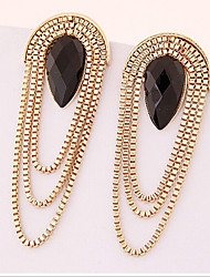 cheap -Women's Drop Earrings Statement Jewelry Synthetic Gemstones Gold Plated Alloy Drop Jewelry For