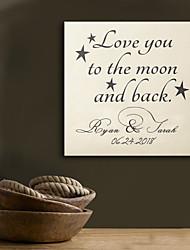 E-HOME® Personalized Signature Canvas Frame-LOVE YOU Wedding Ceremony