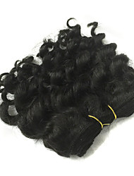 cheap -1 Pcs Lot 5 Inch Brazilian Virgin Hair #1B Deep Wave Human Hair Weave  Curly Hair Products