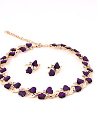 Classic gold-plated Necklace (necklace) (earrings)