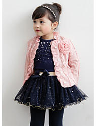 Girl's Summer/All Seasons Long Sleeve Dress/Clothing Set (Cotton Blend)
