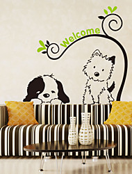 Wall Stickers væg decals stil tegneserie hund kat pvc wall stickers