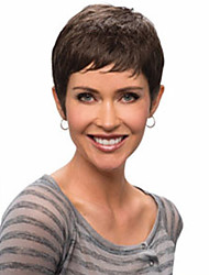 Women Synthetic Wig Short Wavy Black Bob Haircut Pixie Cut With Bangs Halloween Wig Carnival Wig Costume Wig