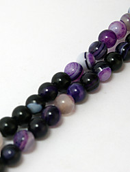 cheap -Beadia 39Cm/Str (Approx 62PCS) Natural Agate Beads 6mm Round Dyed Purple Color Stone Loose Beads DIY Accessories
