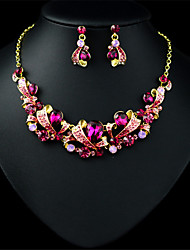 cheap -LUONA The Latest Big Exaggerated Fashion  Earrings Necklace Set